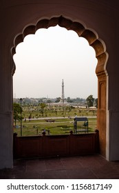 View of Minar e Pakistan from Badshahi Mosque