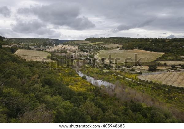 View of Minerve, Hérault, France - one of the most beautiful villages of France