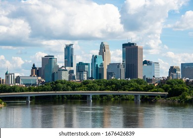 View of Minneapolis, MN in the Summer
