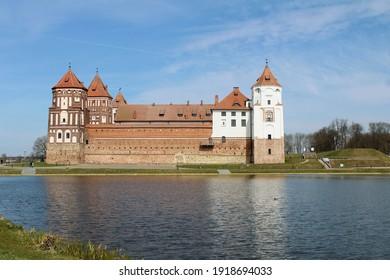 View of the Mir Castle, Belarus - Shutterstock ID 1918694033