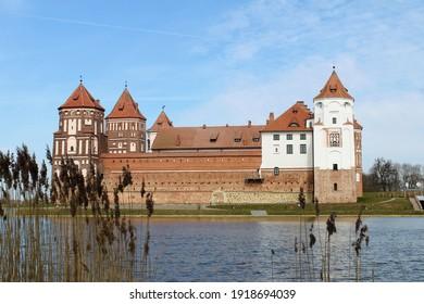 View of the Mir Castle, Belarus - Shutterstock ID 1918694039