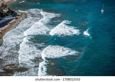 View from Mirador La Falzia to the surfer bay, Costa Blanca, Spain