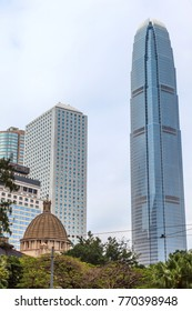View of modern building office at Central Business, Hongkong
