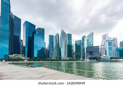 View of modern buildings in Singapore