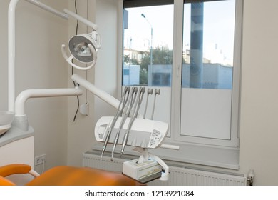 View of modern empty dental surgery