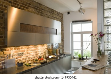 View of a modern kitchen at home