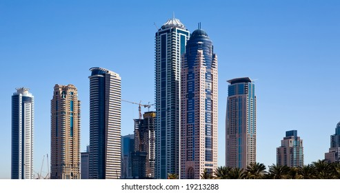 View of modern skyscraper in Dubai, UAE