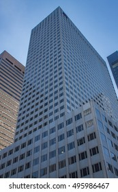 View at modern skyscrapers in New York City, USA