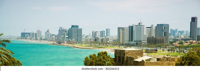 view of the modern Tel Aviv from old city