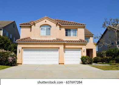 View of a modern two storey house in Westside of Los Angeles. California.