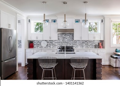View of a modern upscale kitchen