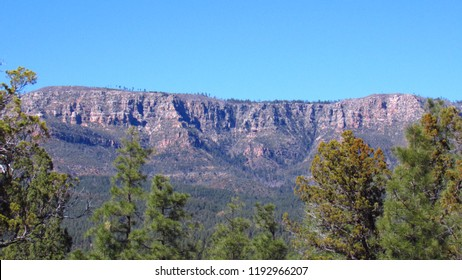 View of the Mogollon Rim as seen from Payson , taken in Payson, Arizona.