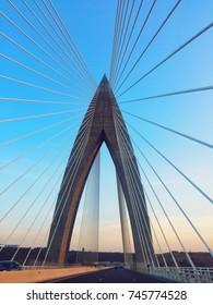 View of Mohamed v bridge in Rabat morocco