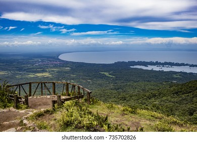 View from Mombacho Volcano of Lake Nicaragua and Islands