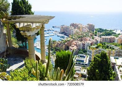 View of Monaco City and Garden From Above