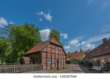 View of the monastery Hude, Oldenburg, Germany. Copy space for text