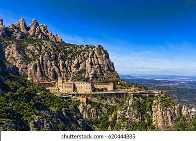 View of the monastery Montserrat in Spain near Barselona