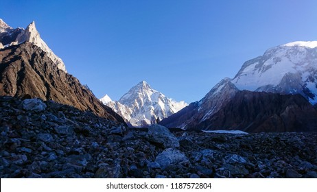 View of mont K2 on the way to K2 Base camp, Pakistan