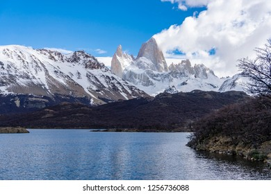 View of Monte Fitz Roy from Lake Capri