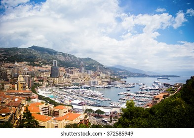 view of Monte-Carlo, Monaco, Corte d'azure