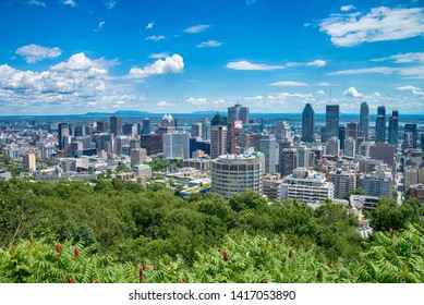 View of Montreal city in Canada