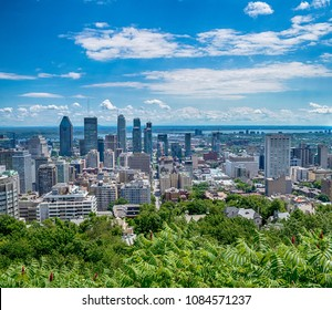 View of Montreal city in Canada, North America
