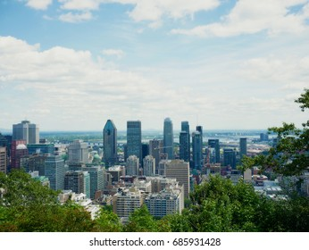 View of Montreal from the Mont-Royal, Quebec, Canada