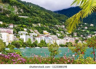View of Montreux, Geneva lake, Switzerland