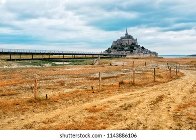 View of the Mont-Saint-Michel in France.