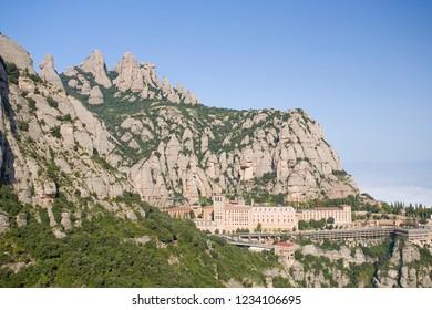 View of Montserrat, Barcelona, Spain.