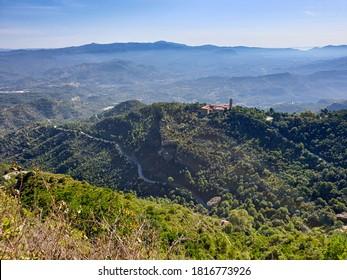 Vista de la montaña de Montserrat en Barcelona, Cataluña, España