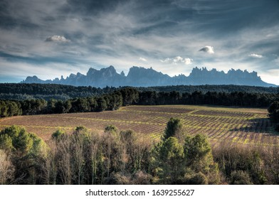 View of Montserrat mountain from Manresa, Catalonia, Spain
