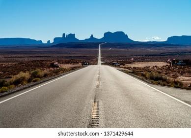 View at Monument Valley National Park, Arizona, USA