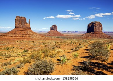 view of Monument Valley, Utah, USA.