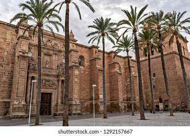 View of monumental cathedral of Almeria, Spain.