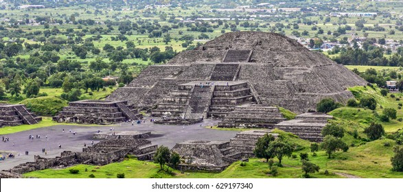 View of Moon Pyramids in ancient city Teotihuacan - Mexico