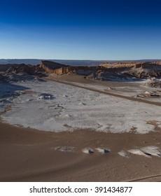 View of the Moon Valley (Valle de la Luna) in Chile