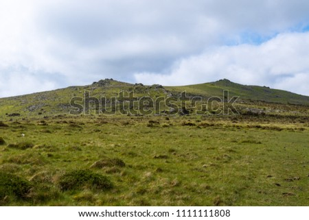 A view of the moor land of Dartmoor National Park, Devon, United Kingdom