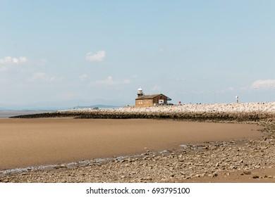 A view from Morecambe Bay coast, Lancashire, England.