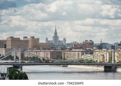 View to Moscow river and Moscow state University far