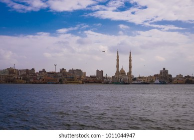 View of a mosque at Port Said, Egypt