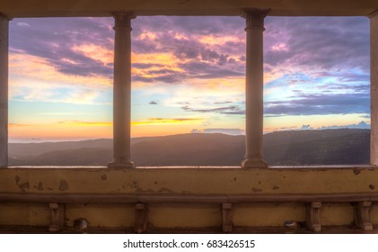 View of the Motovun Loggia, Istria. Croatia