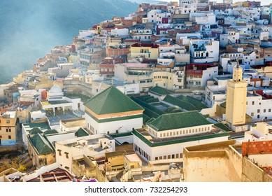 View of Moulay Idriss Zerhoun, Morocco