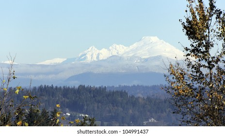 A view of Mount Baker with snow cap, located in Northern part of Washington state