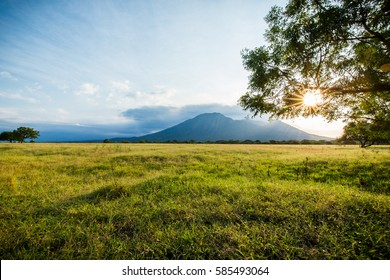 A view of Mount Baluran in Java Indonesia
