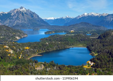 View from Mount Campanario, Bariloche, Patagonia, Argentina