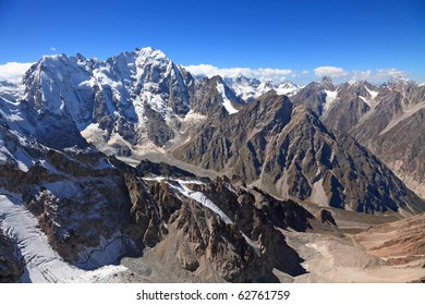 view of the mount Dykh-tau. It is second highest mountain in Europe. Its height 5206 meters