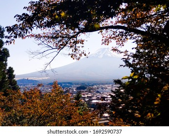 View of Mount Fuji in automn, Fujiyoshida, Japan