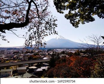View of Mount Fuji, Fujiyoshida, Japan