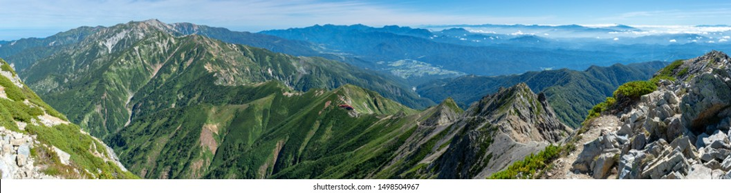 View from the Mount Goryu, Hakuba Japan
